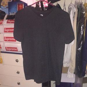 Blank Black V neck tee shirt